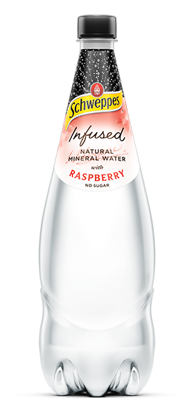 Infused Natural Mineral Water with Raspberry